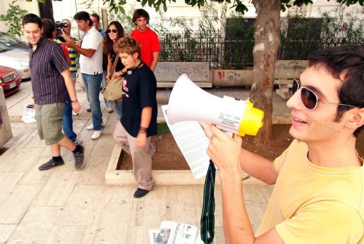 Protesta degli studenti universitari di Bari